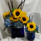Sunflower/Hydrangea Set Fresh Floral Design