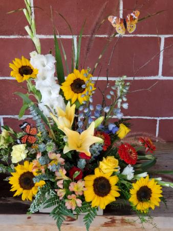 Sunflowers and Butterflies