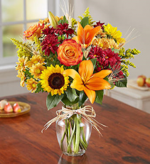 Sunflowers and Daisies Vase
