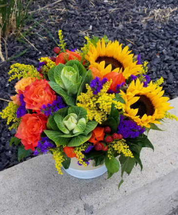sunflowers and kale