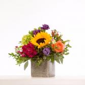 Sunflowers and love arrangement