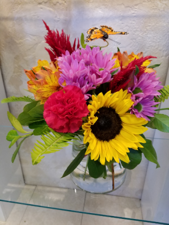 Sunflowers and mixed flowers
