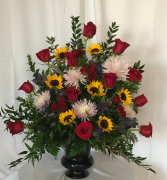 Sunflowers and Roses...Oh My! Funeral Urn