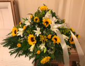 Sunflowers and Sunshine Casket Spray