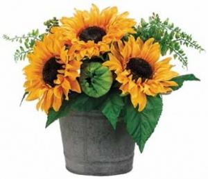 Sunflowers & Fern Arrangement-SILK BOTANICAL  in Canon City, CO | TOUCH OF LOVE FLORIST AND WEDDINGS