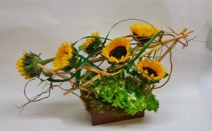 sunflowers harvest arrangement