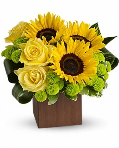 Sunflowers in a Box Fall Flowers