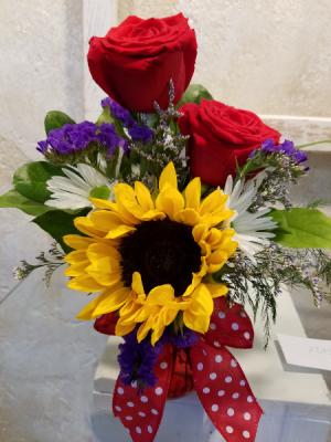 Sunflowers in mug #1 in Hutchinson, KS   Don's Custom Floral