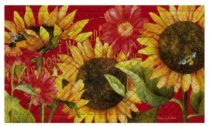 Sunflowers Indoor/Outdoor Mat in Chatham, NJ | SUNNYWOODS FLORIST