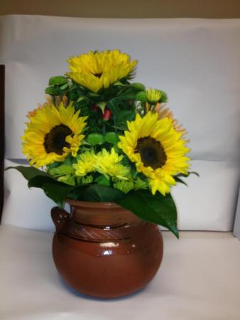 sunflowers is vase