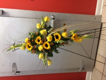 SUNFLOWERS OF FAITH Standing Sprays