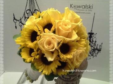 Sunflowers Roses Bridal Bouquet In Whitesboro Ny Kowalski