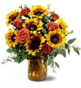 Sunflowers & Roses Fall Floral