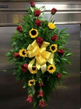 Sunflowers & Roses Funeral Sprays
