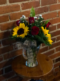 Sunflowers + Roses = Love