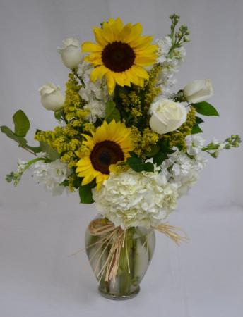 Sunflowers Serene Vase arrangement