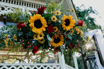 Sunflowers Shine Over Our Love Arch Arrangement