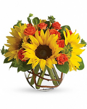 Sunflowers & Spray Roses Flower Bouquet