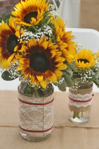 SUNFLOWERS Wedding Centerpiece flowers in Riverside, CA | Willow Branch Florist of Riverside