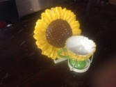 sunflowerteacup w/flowers 25.00