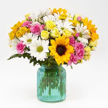 Sunlit Meadows Bouquet  Vase Arrangement
