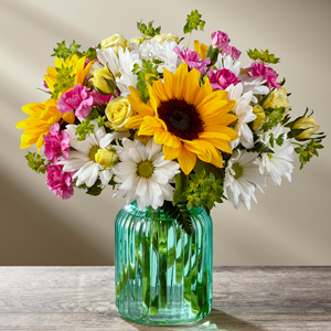 Sunlit Meadows Designer Vase Arrangment