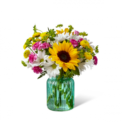Sunlit Meadows Mason Jar Arrangement
