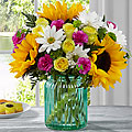 Sunlit Meadows Vase Arrangement