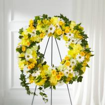 Sunlit Splendor Wreath Arrangement
