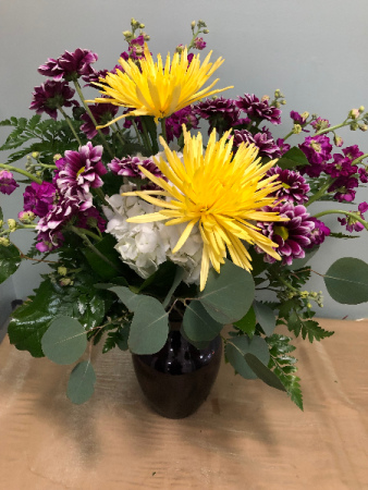 Sunny Amethyst  Vase Arrangement