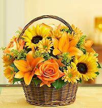Sunny Autumn Day Flower Basket