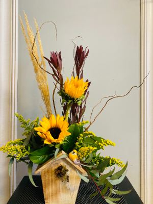 sunny birdhouse  in Airdrie, AB | Flower Whispers