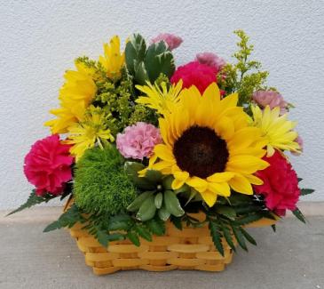 Sunny Blooms Basket Special Design