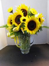 Sunny Breezes Fresh Floral Arrangement