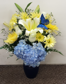 Sunny Bright Butterflies  Vase Arrangement