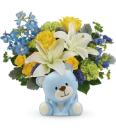 Sunny Cheer Bear All-Around Floral Arrangement