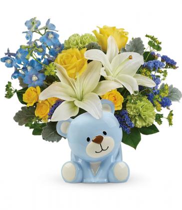 Sunny Cheer Bear All-Around Floral Arrangement