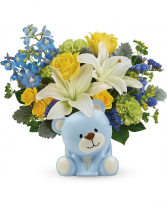 Sunny Cheer Bear Flower Arrangement