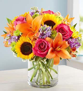 sunny day  vase bouquet