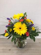 Sunny Day Gerbs Vase