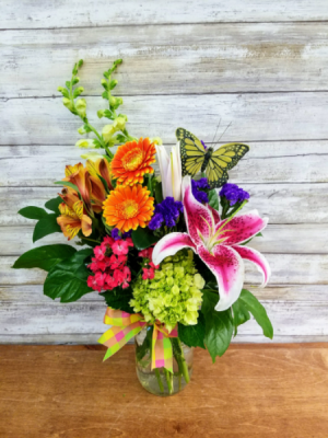 Sunny day mason jar arrangment   in Ozone Park, NY | Heavenly Florist
