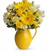 SOLD OUT Sunny Day Pitcher Floral Bouquet