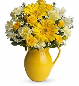 Sunny Day Pitcher Floral Bouquet