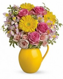 Sunny Day Pitcher of Charm Teleflora - Two Gifts in ONE!