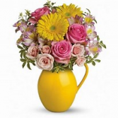 sunny day pitcher of charm vase