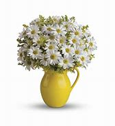 sunny day pitcher of daisies vase