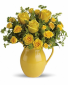 """Sunny Day Pitcher of Roses T 71-1 13.5""""(w) x 14.5""""(h)"""