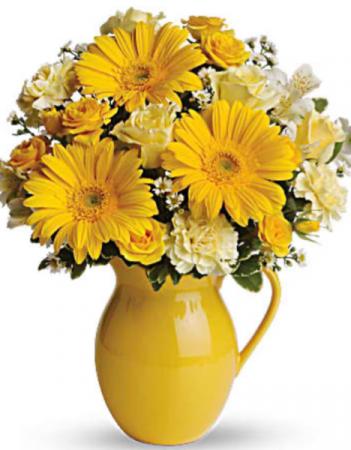 Sunny Day Pitcher  Vase