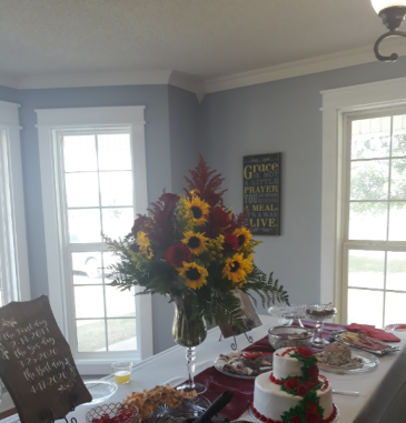Sunny Day Tabletop Wedding Decorations