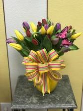 SUNNY DAY TULIPS Vase Arrangement